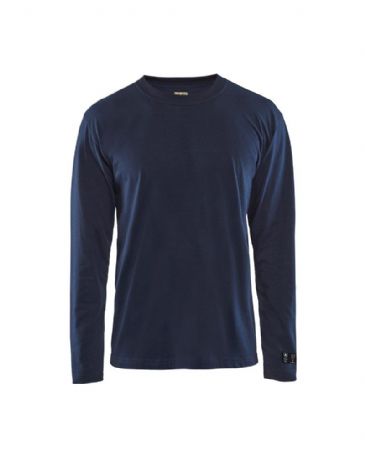 Blaklader 3483 Flame Retardant T-Shirt Long Sleeves (Navy Blue)